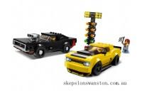 Genuine Lego 2018 Dodge Challenger SRT Demon and 1970 Dodge Charger R/T