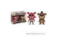 Five Nights at Freddys Freddy & Foxy EXC 2-Pack Funko Pop! Vinyl Clearance Sale