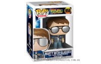 Back to the Future Marty with Glasses Funko Pop! Vinyl Clearance Sale
