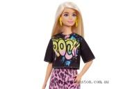 Outlet Sale Barbie Fashionista Rock T Pink Lip Skirt Doll