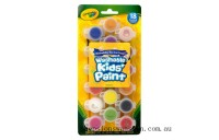 Genuine Crayola 18 Washable Kids Paint