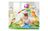 Clearance Fisher-Price Rainforest Music & Lights Deluxe Gym Baby Toy