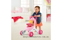 Discounted Fisher-Price Princess Stroll-Along Musical Walker and Doll Gift Set