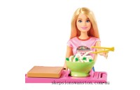 Clearance Barbie Noodle Maker Bar Playset with Doll