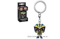Marvel Luchadores Wolverine Pop! Keychain Clearance Sale