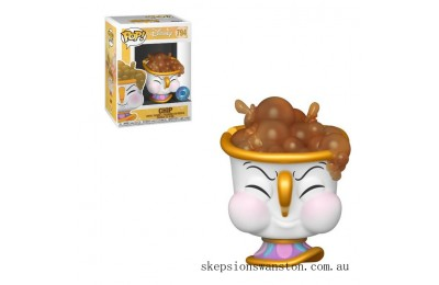 PIAB EXC Disney Beauty and the Beast Chip with Bubbles Funko Pop! Vinyl Clearance Sale