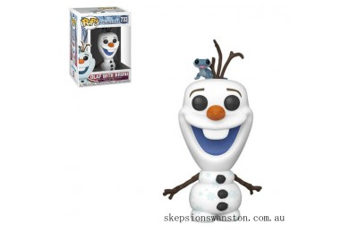 Disney Frozen 2 Olaf with Fire Salamander Funko Pop! Vinyl Clearance Sale