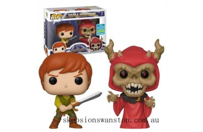 SDCC 2019 The Black Cauldron Taran & Horned King EXC 2-Pack Funko Pop! Vinyls Clearance Sale