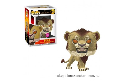 Disney Lion King Scar Flocked EXC Funko Funko Pop! Vinyl Clearance Sale