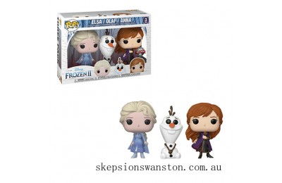 Disney Frozen 2 Elsa, Olaf & Anna EXC Pop! 3-Pack Clearance Sale