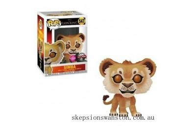 Disney The Lion King 2019 Simba Flocked EXC Funko Pop! Vinyl Clearance Sale