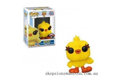 Toy Story 4 Ducky Flocked EXC Funko Pop! Vinyl Clearance Sale