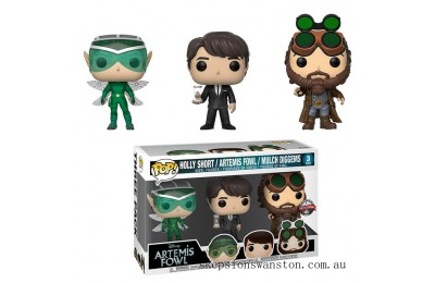 Disney Artemis Fowl Holly, Artemis and Mulch EXC Funko Pop! Vinyl 3-Pack Clearance Sale