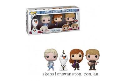 Disney Frozen 2 Elsa, Olaf, Anna & Kristoff EXC Pop! 4-Pack Pop! Vinyl Clearance Sale