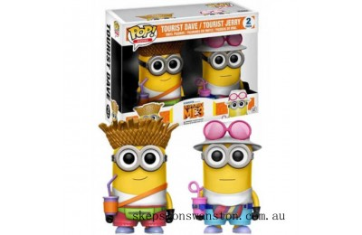 Despicable Me 3 Tourist Dave & Tourist Jerry EXC Funko Pop! Vinyl 2-Pack Figure (VIP ONLY) Clearance Sale