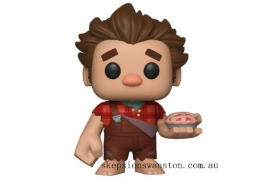Disney Wreck-It Ralph 2 Ralph With Pie EXC Funko Pop! Vinyl Clearance Sale