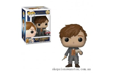 Fantastic Beasts 2 Newt with Postcard EXC Funko Pop! Vinyl Clearance Sale