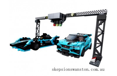 Genuine Lego Formula E Panasonic Jaguar Racing GEN2 car & Jaguar I-PACE eTROPHY