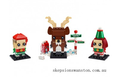 Genuine Lego Reindeer, Elf and Elfie