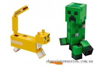 Clearance Lego BigFig Creeper™ and Ocelot