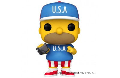 Simpsons USA Homer Funko Pop! Vinyl Clearance Sale