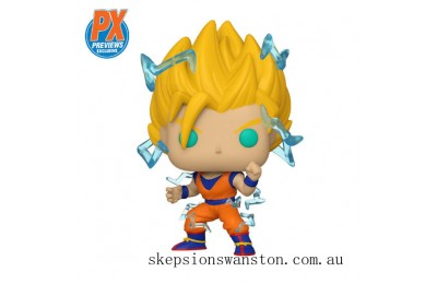 PX Previews Dragon Ball Z Super Saiyan 2 Goku EXC Funko Pop! Vinyl Clearance Sale