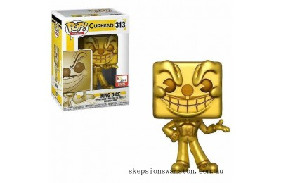 Cuphead King Dice Gold E3 2018 EXC Funko Pop! Vinyl Clearance Sale