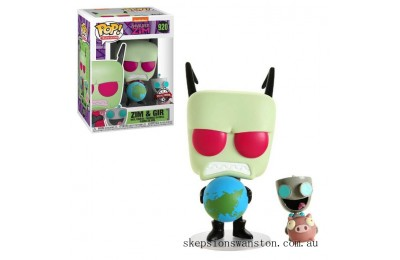 Invader Zim with GIR EXC Funko Pop! Vinyl Clearance Sale