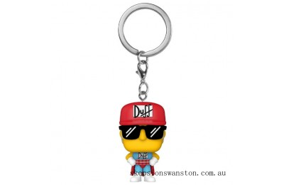 Simpsons Duffman Funko Pop! Keychain Clearance Sale