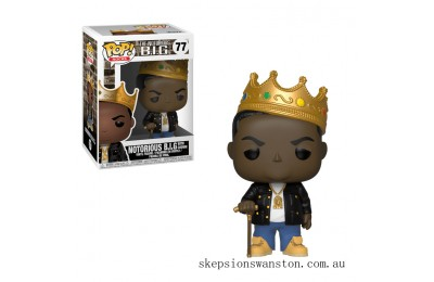 Pop! Rocks Notorious B.I.G with Crown Funko Pop! Vinyl Clearance Sale