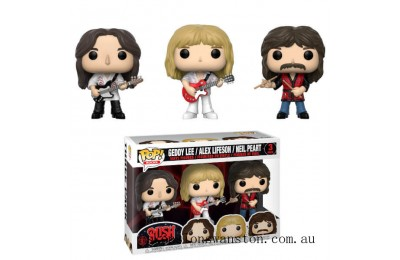 Pop! Rocks Rush Geddy, Alex, Neil 3-pack Funko Pop! Vinyl Clearance Sale