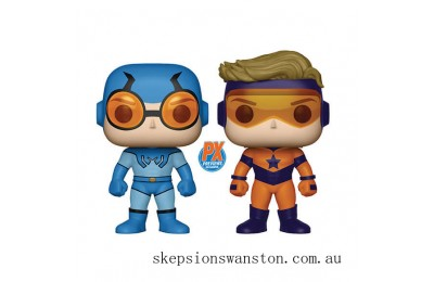 DC Comics Blue Beetle & Booster Gold 2-Pack EXC Funko Pop! Vinyls Clearance Sale