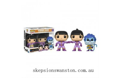 Heroes Wonder Twins Zan, Jayna and Gleek SDCC 2017 EXC Funko Pop! Vinyl 3 Pack Clearance Sale
