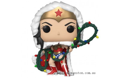 DC Comics Holiday Wonder Woman with Lights Lasso Funko Pop! Vinyl Clearance Sale