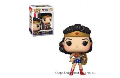 DC Comics Wonder Woman 80th Classic Wonder Woman with Shield & Sword 1950 Pop! Vinyl Figure Clearance Sale