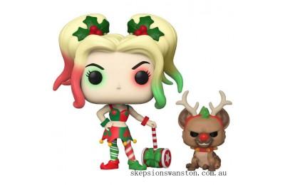 DC Comics Holiday Harley Quinn ith Helper Funko Pop! Vinyl Clearance Sale
