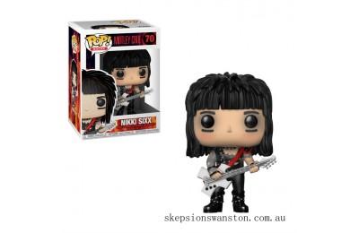 Pop! Rocks Motley Crue - Nikki Sixx Funko Pop! Vinyl Clearance Sale