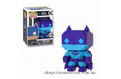 DC Comics Batman (Purple) 8-Bit EXC Funko Pop! Vinyl Clearance Sale