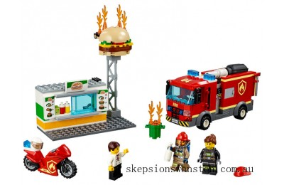 Genuine Lego Burger Bar Fire Rescue