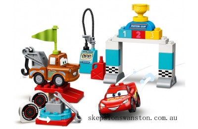 Hot Sale Lego Lightning McQueen's Race Day
