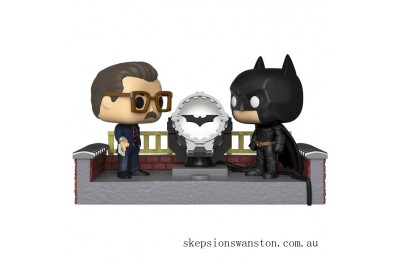 Batman with Light Up Bat Signal Funko Pop! Movie Moment Clearance Sale