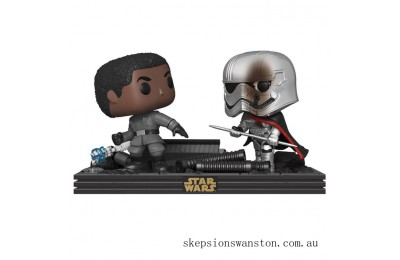 Star Wars The Last Jedi Finn & Captain Phasma Funko Pop! Movie Moment Clearance Sale
