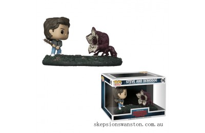 Stranger Things Steve vs Demodog Funko Pop! Movie Moment Clearance Sale