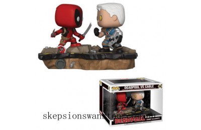 Deadpool Comic Moments Deadpool vs Cable Funko Pop! Vinyl 2-Pack Clearance Sale
