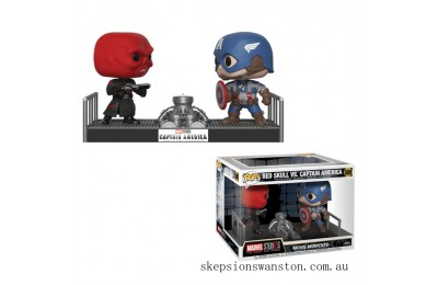 Marvel Captain America and Red Skull Funko Pop! Movie Moment Clearance Sale