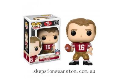 NFL Joe Montana 49ers Home Jersey Funko Pop! Vinyl Clearance Sale