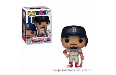 MLB New Jersey Mookie Betts Funko Pop! Vinyl Clearance Sale