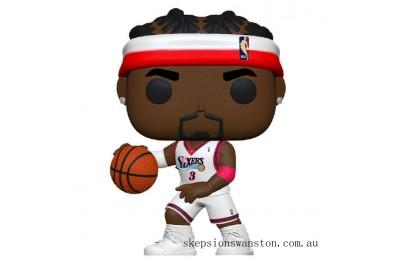 NBA Legends Allen Iverson (Sixers Home) Pop! Vinyl Figure Clearance Sale