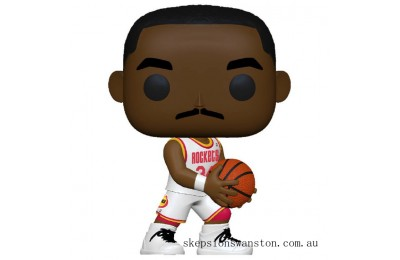 NBA Legends Hakeem Olajuwon (Rockets Home) Pop! Vinyl Figure Clearance Sale