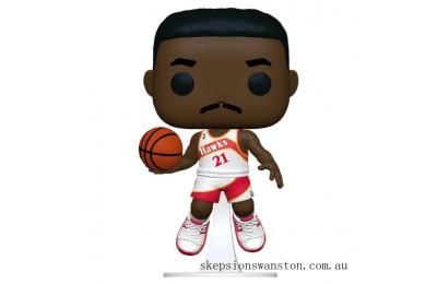 NBA Legends Dominique Wilkins (Hawks Home) Pop! Vinyl Figure Clearance Sale